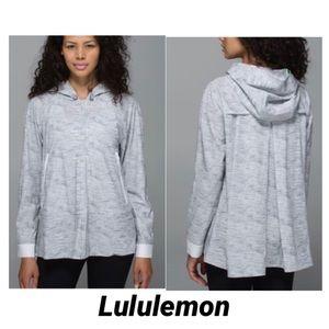Lululemon sun showers jacket Grey SZ 6